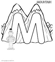 Bert and the letter M coloring page