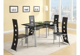 great black glass dining room table modern elegant with tabletop top rectangular for more and 6 chair 4 set argo only decorating idea