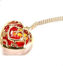 other the legend of zelda red heart crystal pendant gp necklace