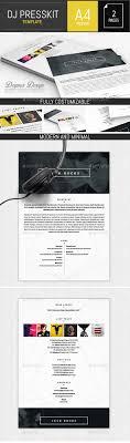 Musician Dj Press Kit Resume Indesign Template By Dogmadesign