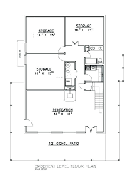 Basement Layout Design Gorgeous R 48 Ranch Basement Floor Plan For House Plan By CreativeHousePlans