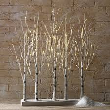 RAZ Lighted Birch Tree Forest 30 Inch - 88 Warm White LED'S