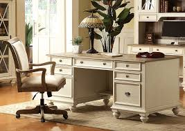 coventry two tone weathered driftwood dover white executive desk riverside