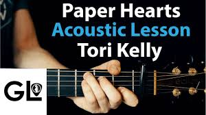 Chord Chart Paper Paper Hearts Tori Kelly Acoustic Guitar Lesson Tutorial