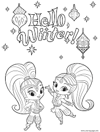 Paw Patrol Winter Coloring Pages