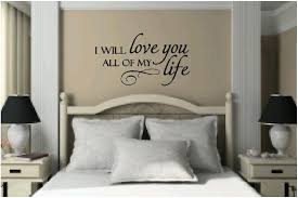 vinyl love quotes on wall decals for master bedroom us