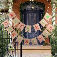 <b>1pc Merry Christmas</b> Flags <b>Banner</b> Outdoor Indoor Burlap <b>Banner</b> ...