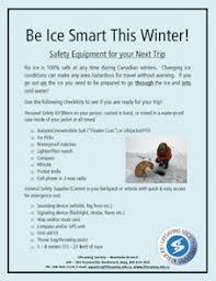 Ice Depth Safety Chart Winter Ice Safety Lifesaving Society Manitoba