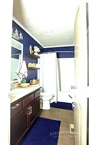navy bathroom rugs navy and white bathroom navy and white bathroom nautical navy white bathroom makeover