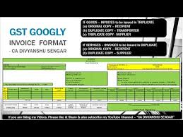 Sample Purchase Invoice Templates Custom GST SALE INVOICE FORMAT SALE BILL RULES 48 Points Simple