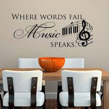 where words fail speaks wall stickers es diy home decor vinyl wall decals al notes chandelier wall decal decals for walls from xymy757