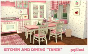 Tania Kitchen and Dining by Mary Jiménez at pqSims4 » Sims 4 Updates