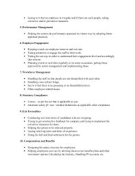 human resource management job description corporate hr manager role and responsibilities hr executive in a company