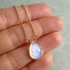 diy jewelry rainbow moonstone necklace smooth rainbow moonstone gemstone pendant gold fill