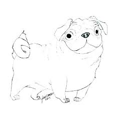 Pug Coloring Page Dog Coloring Pages Printable Pug Dog Coloring