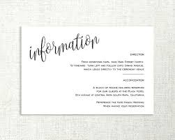 wedding accommodations template information card template wedding enclosure card details card