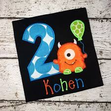 Abby And Finn Size Chart Personalized Little Monster Birthday Design Bright Colors