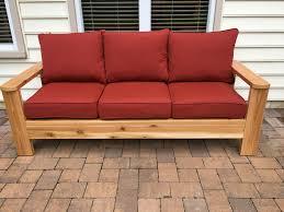 diy outdoor sofa. Cedar Outdoor Sofa Diy E