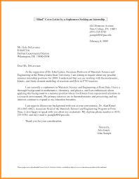 Cover Letter For Internship Student Bio Letter Format