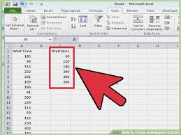 how to make a histogram in excel create histogram in excel asyik