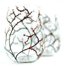 hallmark wine glasses decorative stemless wine glasses decorating for fall on a budget autumn set of