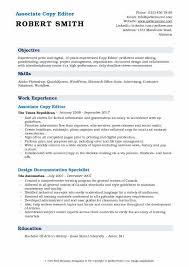 Sample Copy Of Resumes Copy Editor Resume Samples Qwikresume
