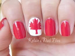 Canada Day Gel Nail Designs Team Canada Nails Google Search Bright Nail Art Nail