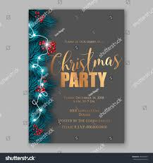 holiday party invitation template christmas party invitation template stock vector royalty free