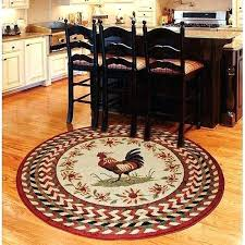 round kitchen rugs rooster braid rouge round kitchen area rug will be in my kitchen soon round kitchen rugs