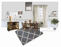 dining room white and dark wood chairs table classic with top cream fur rug contemporer