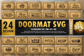 Upload svg file type for layers. Doormat Bundle Graphic By Printablesvg Creative Fabrica