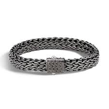 Mens John Hardy Classic Chain 11mm Bracelet In Blackened Sterling Silver
