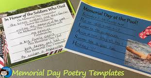 Poetry Templates Memorial Day Poetry Templates