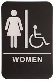 womens bathroom sign. Wonderful Bathroom Women Restroom Sign BlackWhite  ADA Compliant 1 Intended Womens Bathroom S