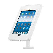 white counter top ipad stand