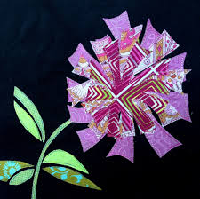 Firecracker Flower Applique Design: from the SewCanShe Applique of ... & It was my first 'pictoral art quilt' that I made after (and while) watching  Wendy Butler Burns' Pictorial Quilting Techniques class on Craftsy. Adamdwight.com
