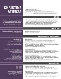 Architecture Resume Template Free Sample Resume For Architect ...