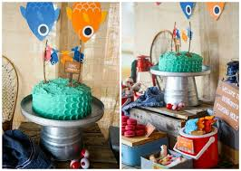 Adorable Boys Gone Fishing Party Pretty My Party Party Ideas