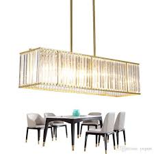 luxury modern crystal chandelier dining room hanging gold led crystal light rectangle kitchen island cristal lighting linear chandelier round chandelier