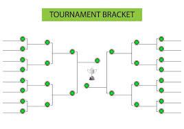 Tournament Bracket Blank Template Vector Download Free