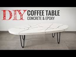making a concrete coffee table