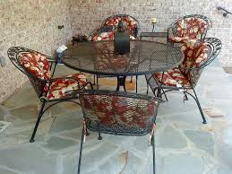 wrought iron patio table and 4 chairs. Full Size Of Decoration Vintage Wrought Iron Salterini Woodard Mesh Metal Chaise Lounge Wooden Patio Table And 4 Chairs G