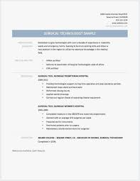 25 Surgical Tech Resume Sample Download Best Resume Templates