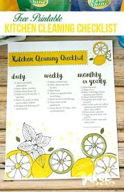 Kitchen Cleaning Check List This Printable Kitchen Cleaning