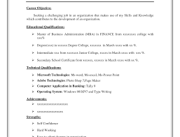 Good Resume Outline College Resume Objective Examples