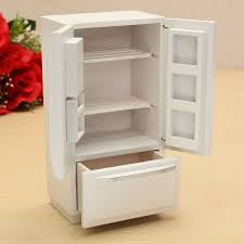 Kitchen Dollhouse Furniture 112 Wooden Dollhouse Miniature Furniture Kitchen Fridge