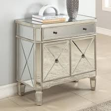 Chest Mirrored Nightstand Cheap With 3 Drawer