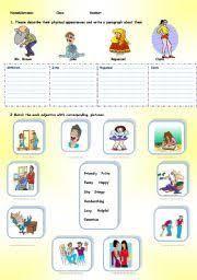 Personal Description English Worksheet Physical And Personal Description Desktop