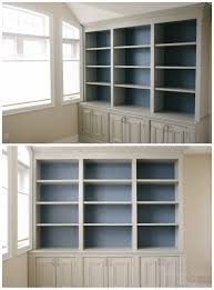 office bookcase with doors. Grey And Blue Combination | DIY Built-in Office Cabinet Classy Glam Living Bookcase With Doors E