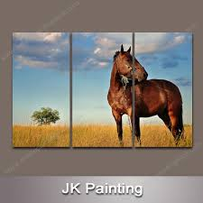 custom horse oil painting giclee printed from handmade oil painting modern animal wall art painting china wall canvas